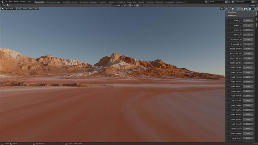 Terrain Mixer for Blender 3D